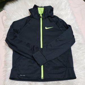 Nike Boys Dri-Fit Black Zipped Up Hoodie sz L